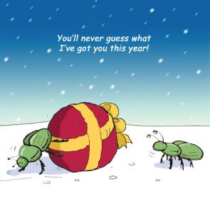 TW314 – Stickleback Insect Humour Christmas Card